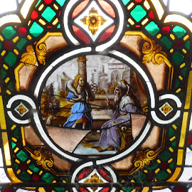 Warwick Castle stained glass by Elizabeth O - Buildings & Architecture Other Interior