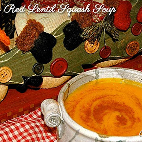 Creamy Coriander Butternut Squash And Red Lentil Soup