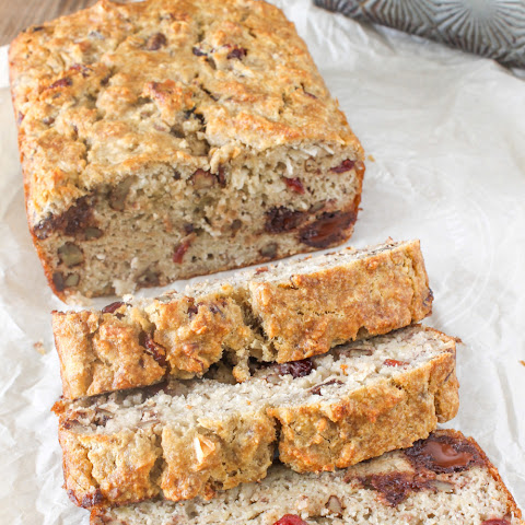 Paleo Banana Bread with Chocolate Chips, Nuts and Coconut