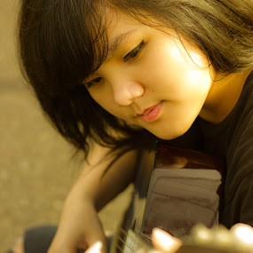 Guitarist by Hadinata Lim - People Musicians & Entertainers