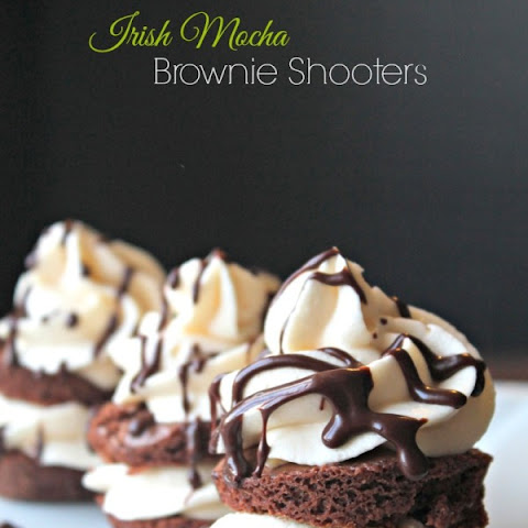 Irish Mocha Brownie Shooters