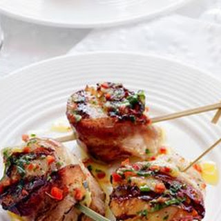 Bacon-Wrapped Scallops with Lemon-Herb Dressing