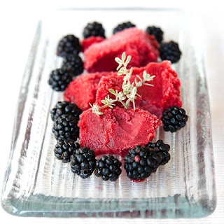 Easy Blackberry & Apple Sorbet (with a hint of Thyme)