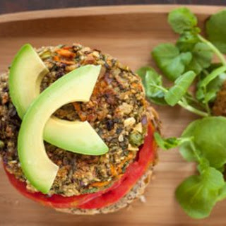 Gingery Quinoa Sweet Potato Burgers