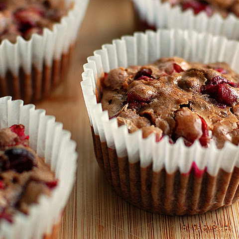 Cranberry Pistachio Chocolate Muffins