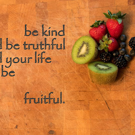 Fruitful by Teresa Cerbolles - Typography Captioned Photos