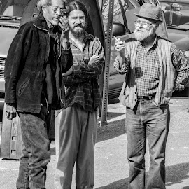 Busted by Beth Staub - People Street & Candids ( black and white, candids, street, candid, caught, men, street scene, street photo, street photography )