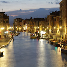 Venice by night by Habashy Photography - Landscapes Waterscapes ( night, lights,  )