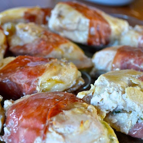 Herb- Ricotta Stuffed Chicken Wrapped in Prosciutto