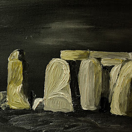 stonehenge by Paul Robin Andrews - Painting All Painting ( stonehenge, oil painting )
