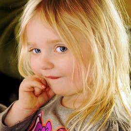 Silly Little Thinker by Cheryl Korotky - Babies & Children Child Portraits