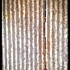 Hanger Lock by Allen Crenshaw - Painting All Painting ( vertical, watercolor, old, hanger, airplane, texas, lock, derelict, design )