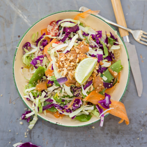 Thai Quinoa Salad With Spicy Peanut Dressing