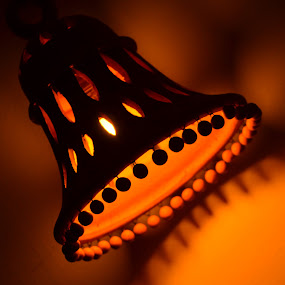 Terracota Lamp at Night time by Yogesh Kumar - Artistic Objects Other Objects ( sand, cota, lamp, night, terra )
