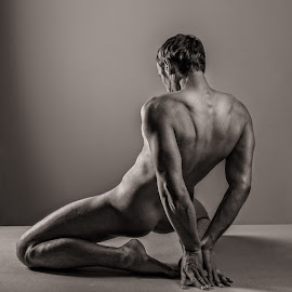 Kris - male nude by Barrie Spence - Nudes & Boudoir Artistic Nude ( nude, black and white, kris, tumblr, male nude )