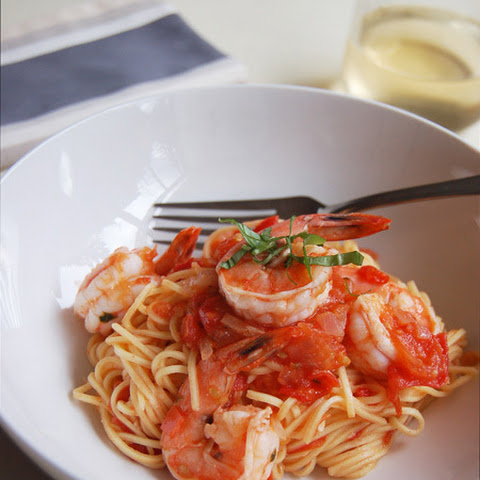 Roasted Garlic & Prawn Pasta