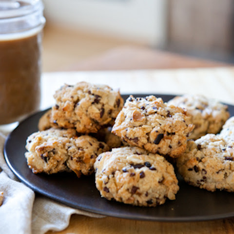Almond Meal Cookies with Coconut and Cacao Nibs