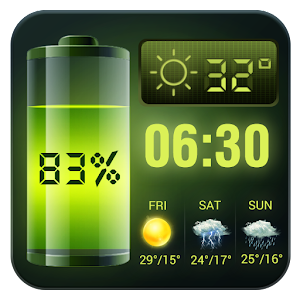 Weather Forecast Widget with Battery and Clock For PC