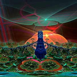 Tangerine Dream by Rick Eskridge - Illustration Sci Fi & Fantasy ( fantasy, jwildfire, mb3d, fractal, twisted brush )