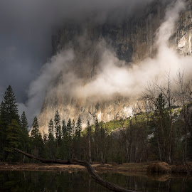El Capitan by Jeff Fahrenbruch - Landscapes Mountains & Hills ( national park, el capitan, california, yosemite national park, merced river, cathedral beach )