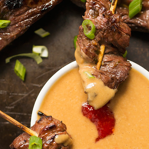 Beef Satay Skewers with Peanut Dipping Sauce {Healthy New Year Challenge - Week 4!}