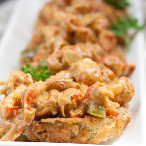 Fried Green Tomatoes with Creole Crawfish Sauce