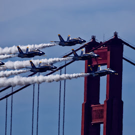 Fly By by Raphael RaCcoon - Transportation Airplanes ( airplane, jet, blue angels )