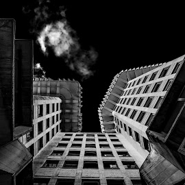 Spaceship  by Toni Mares - Buildings & Architecture Other Exteriors ( building, london, black and white, architectural detail, architecture )