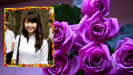 Purple Roses Photo Frames - screenshot