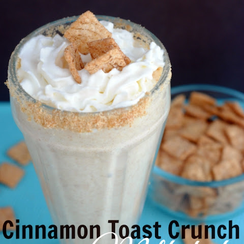Cinnamon Toast Crunch Cereal Milkshake recipe!