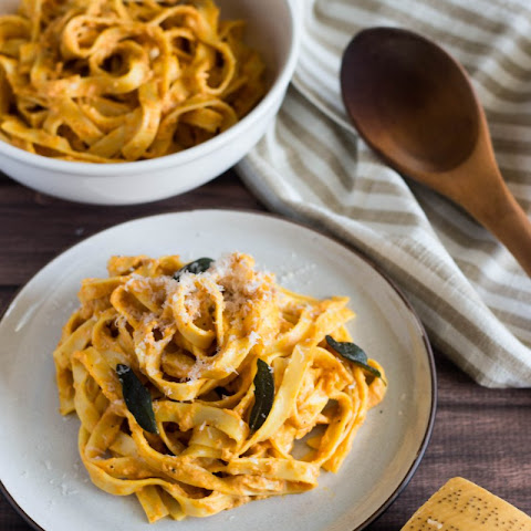Tagliatelle with Brown-Butter Pumpkin Cream Sauce and Fried Sage