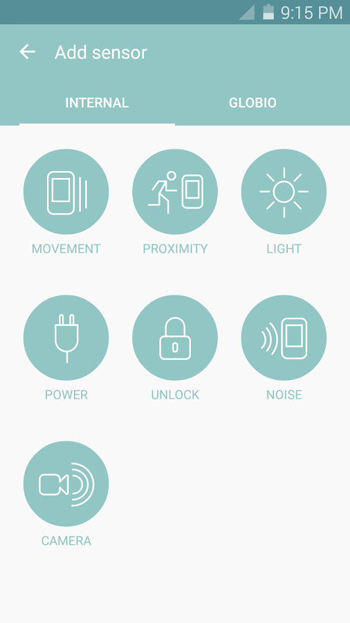 globio Alarm System Screenshot 2
