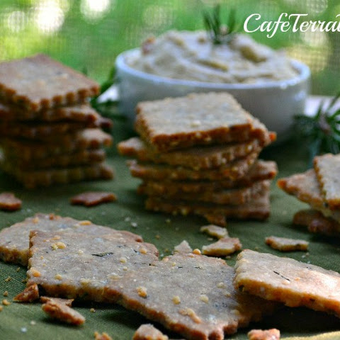 Homemade Rosemary & Parmesan Crackers