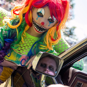 Kitty The Clown by Todd Wallarab - Public Holidays Halloween ( scary, clown, scared, kitty, halloween,  )