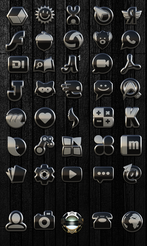 Icon Pack Black Silver 3D Screenshot 1