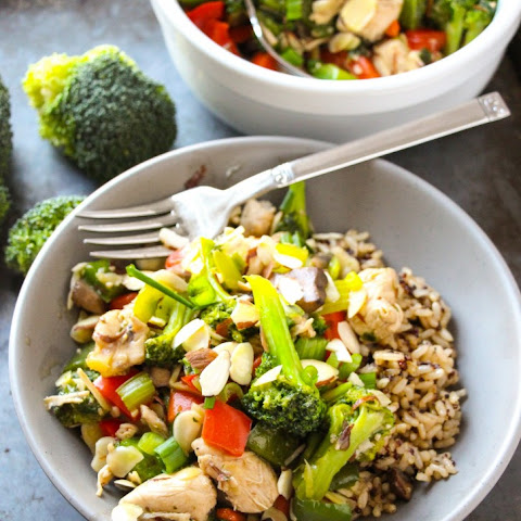 Easy Almond Chicken Stir Fry.