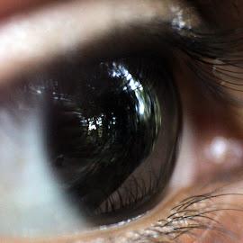 vision by Arjun Madhav - Abstract Macro ( child, macro, pupil, vision, eye lids, eye )