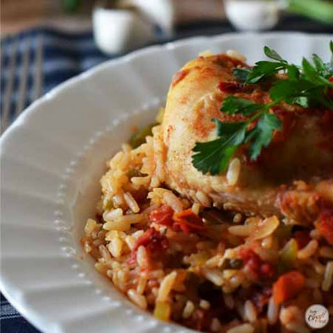 Oven Fried Chicken & Rice