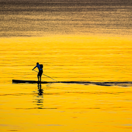 Gold Solitude by Nigel Bullers - Sports & Fitness Watersports ( water, sports, sea, solitude, gold )