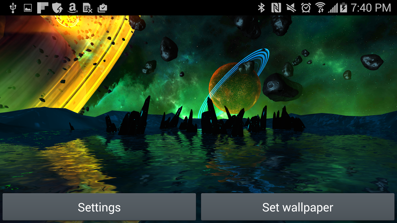 Far Galaxy 3D Live Wallpaper Screenshot 17