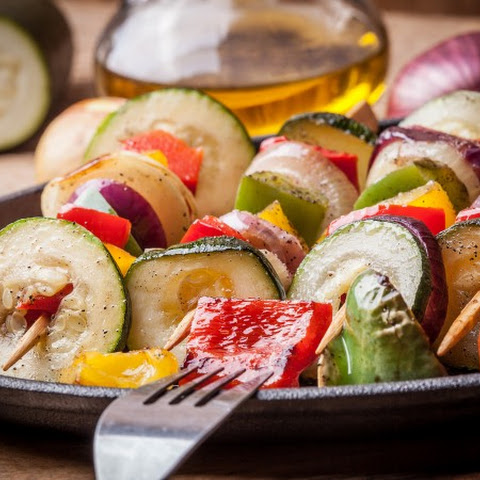 Asian Marinated Vegetable Skewers