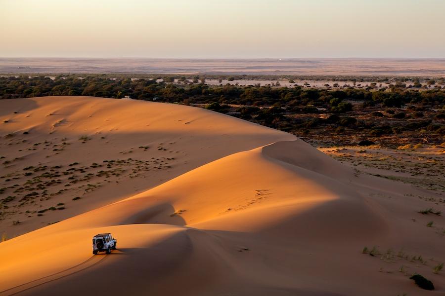 Life as opening by Evgeny Vasenev - Landscapes Deserts ( sand, sunset, land rover, dune, defender, africa, namibia )