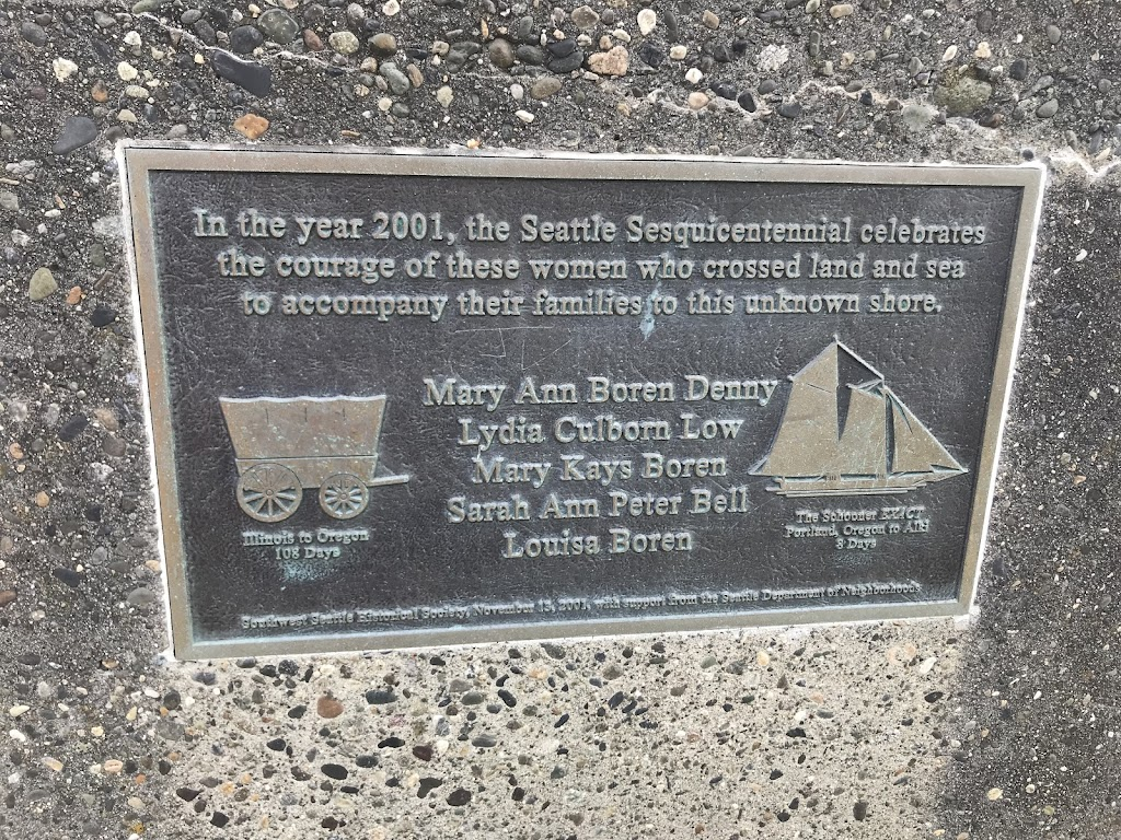 In the year 2001, the Seattle Sesquicentennial celebrates the courage of these women who crossed land and sea to accompany their families to this unknown shore. Mary Ann Boren Denny Lydia Culborn Low ...