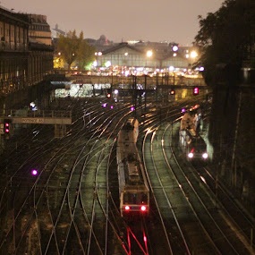 by Antonin de Bertimbrie - Transportation Trains ( sombre, unit, rails, métro, railway, station, rer, trains )