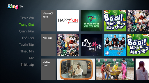 Zing TV for Android TV screenshot 1