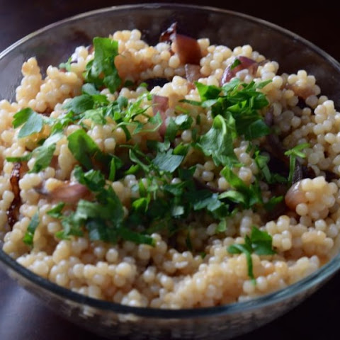 Israeli Couscous with Caramelized Onions