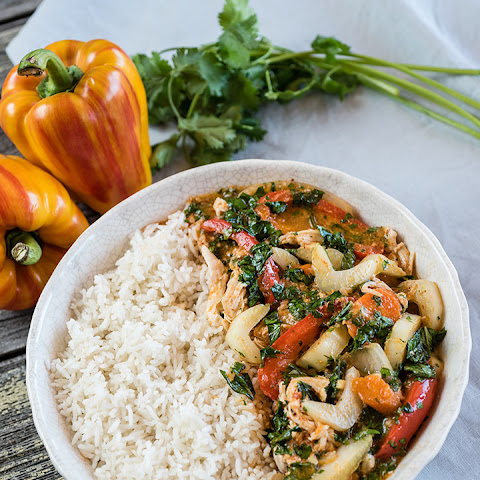Thai Coconut Curry Chicken in a Slow Cooker