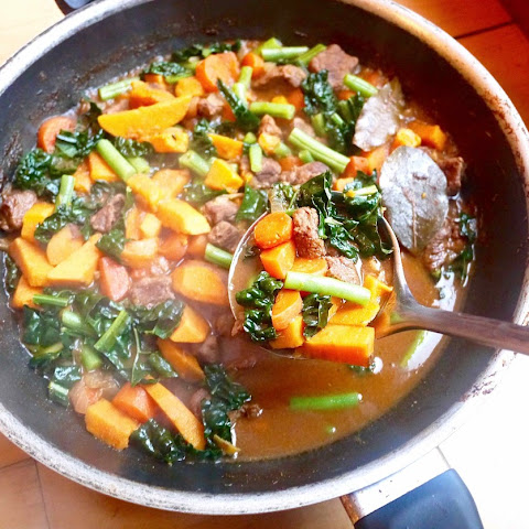 Paleo Beef and Winter Vegetable Soup (GF)