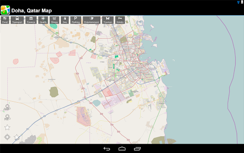 Doha, Qatar Offline Map - screenshot