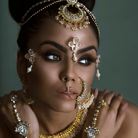 CRAFTED by Rahul Chowdhury - People Fashion ( studio, face, sexy, model, female, beautiful, lady, portrait, ornaments )